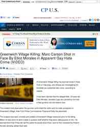 Greenwich Village Killing Marc Carson Shot in Face: Christian Post