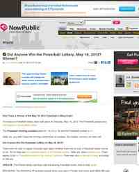 Did Anyone Win the Powerball Lottery May 18: NowPublic